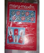 Mary Maxim Plastic Canvas Christmas Needlepoint #7409 - 6 Shirt & tie $ ... - $6.25