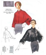 Vogue 2934 New Retro Pattern Original 1950 Design Jacket  - $9.95