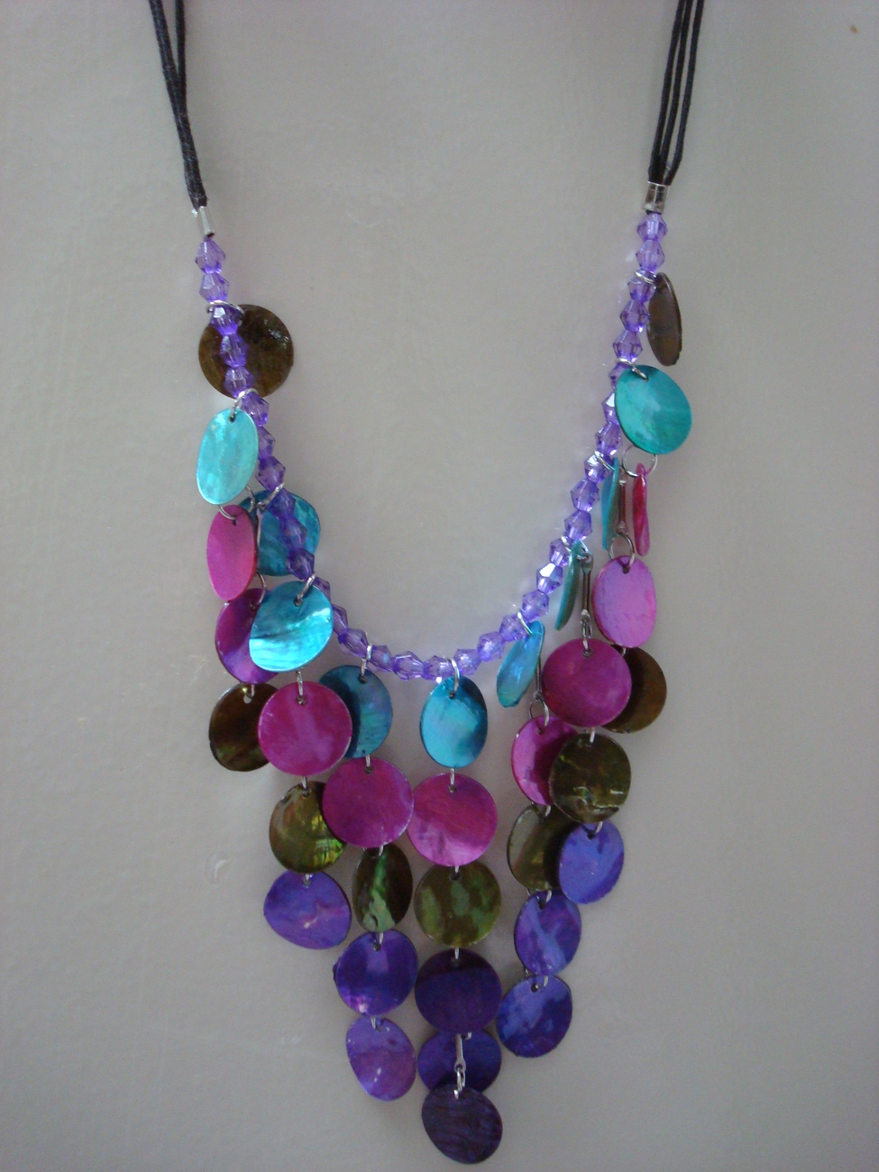 Primary image for multi colors seashell necklace