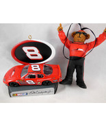 Boyds Racing Family Bear Dale Earnhardt Jr Nascar + Car Ornaments Set of 2 - $12.86