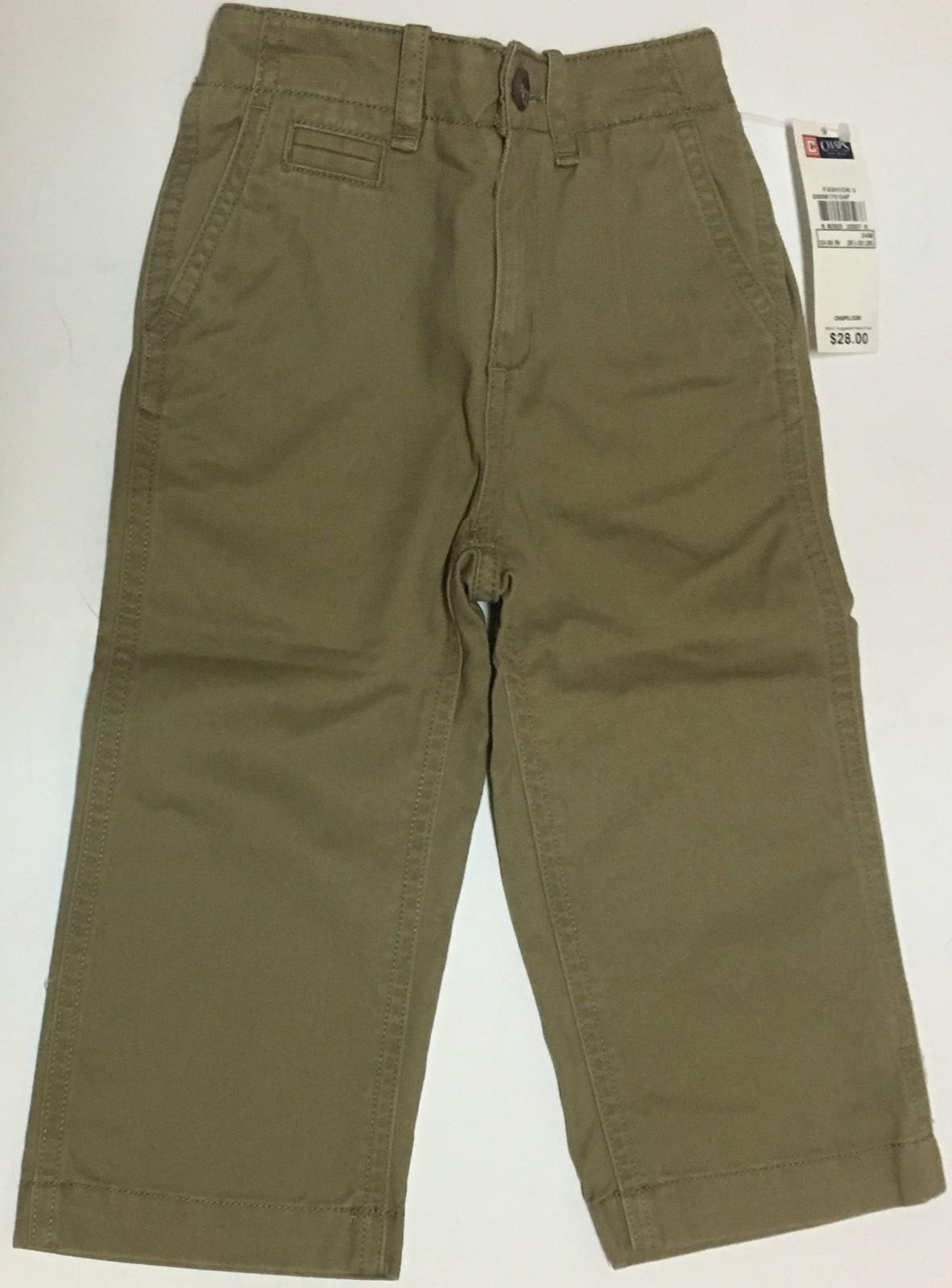Chaps Brown Khaki Pants Jeans SZ 24 Mo Toddler (28 1/2 - 30 LBS) NWT