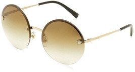 59mm Round Versace Womens Fashion Authentic Sunglasses Metal Gold Non Polarized - $203.47