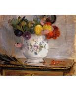 Dahlias - 1876 - 40x50 inch Canvas Wall Art Home Decor - $159.00