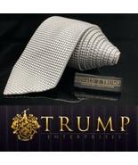 DONALD J. TRUMP~ SIGNATURE COLLECTION Pure Silver Checkered MAGA POWER TIE - $88.32