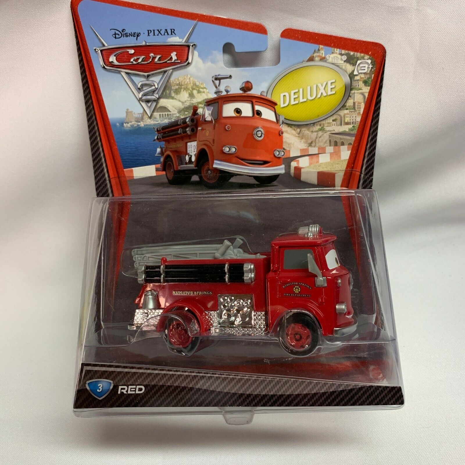 Disney Deluxe PIXAR Cars 2 RED #3 Fire Engine 2010