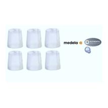 6 Medela Clear Travel Caps bottle Nipple Collar Cap - Genuine New - $8.90