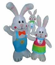 5 Foot Tall LED Easter Air Blown Inflatable Bunny Family Yard Decoration... - ₨5,162.01 INR