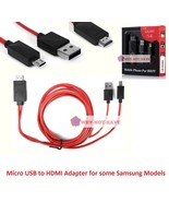 MHL Micro USB to HDMI 1080P HD TV Cable Adapter for Samsung Galaxy s3 s4... - $15.72