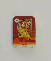 """Lion King Mini Puzzle in Collector Tin 24 pcs New Sealed 5"""" x 7"""" - $4.99"""