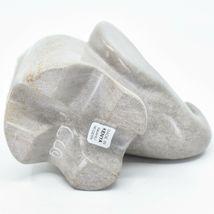 Crafts Caravan Hand Carved Natural Dove Gray Soapstone Cherub Elephant Figure image 5