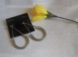 Silver Mesh Drop Earrings #fashion #jewelry #earrings - $5.89
