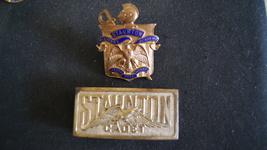 WWII.Vintage. Cadet Hat Badge & Buckle Staunton Military Academy West Vi... - $79.99