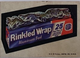 1974/ 6th S TOPPS WACKY sticker Rinkled Wrap Aluminum Fool 25 less feet - $1.95