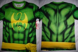 Iron Fist Dragon Marvel Costume Front And Back Sublimation Print T-Shirt - $22.75
