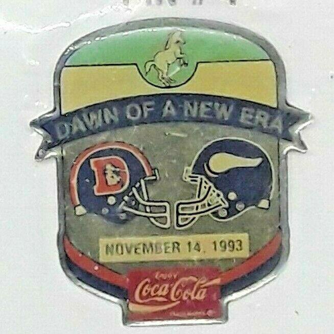 Classic 1993 NFL Football Lapel Hat Pin - Denver Broncos vs Minnesota Vikings image 2