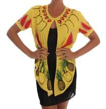 Dolce & Gabbana Multicolor Fruit-Print Tie Top Blouse - $216.45