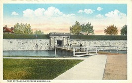 Fortress Monroe Virginia~Sailors Cross Moat to Fort Entrance~Sallyport~1... - $4.00
