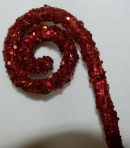 Unbranded 53574 Red Sequins Swirl Curl Spray Christmas Decoration image 3