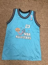 Chicago Bulls Michael Jordan 1996 NBA All Star Game Champion Jersey Yout... - $148.49