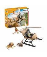 Schleich Wild Life 8-piece Animal Rescue Helicopter Toy with Safari Anim... - $34.80