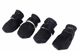 Fashional Breathable Mesh Dog Boot Pet Casual Shoes, Black - $10.07