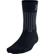 Men's Air Jordan Stencil Crew Socks 642207-010 Black/Grey  - $16.00