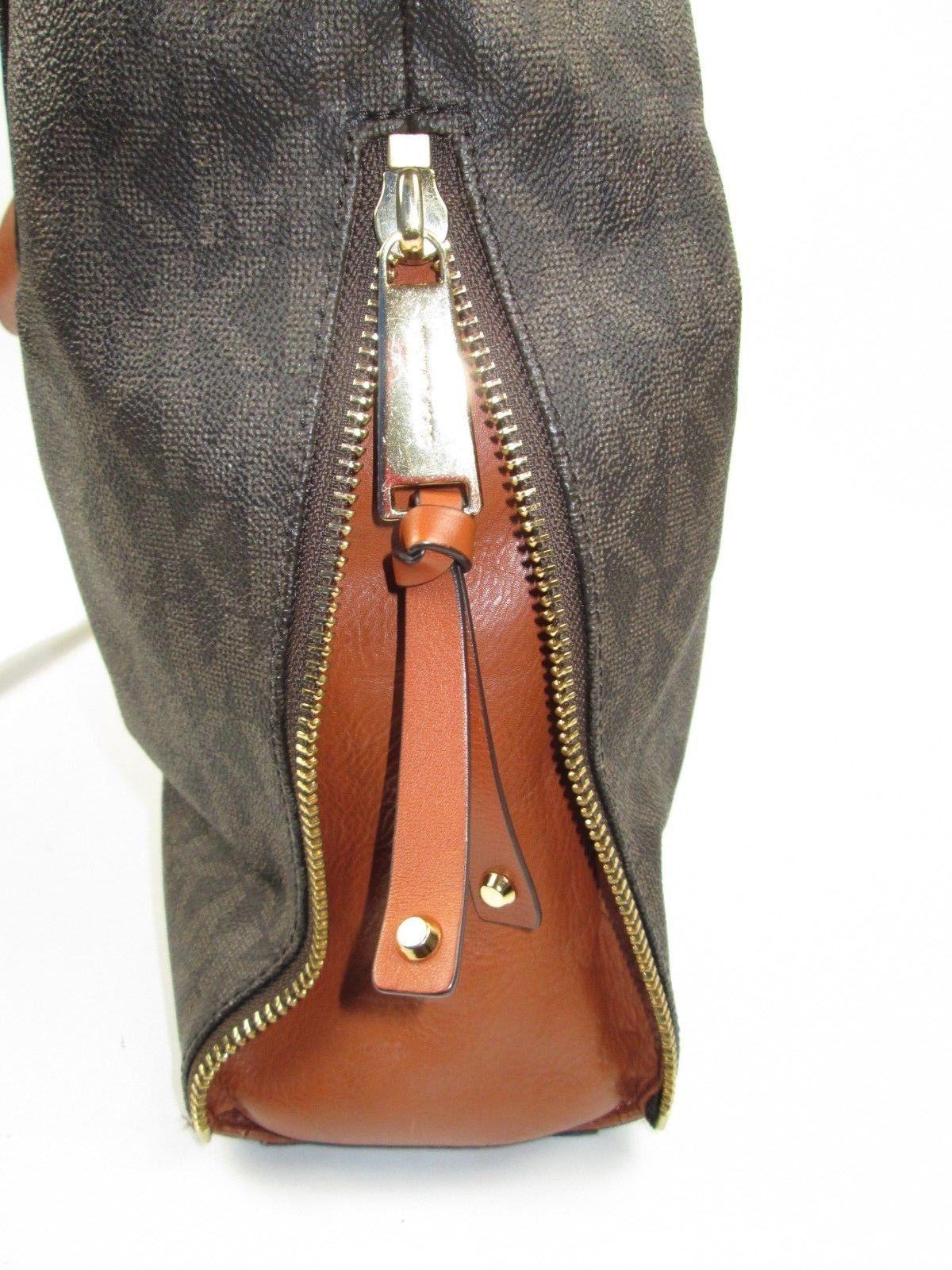 8168b28f7499 MICHAEL KORS Signature Devon Mocha Large Shoulder Tote Bag Purse Brown  Wonderful