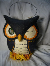 Bethany Lowe Owl Paper Mache Bucket  image 1