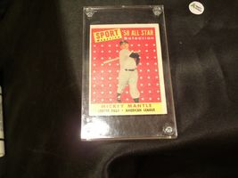 1958 Mickey Mantle Baseball Trading Card # 487 AA 19-BTC4003 Vintage Collectible image 6
