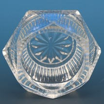 Antique EAPG Pressed Glass Open Salt Ribbed Pryramid image 2