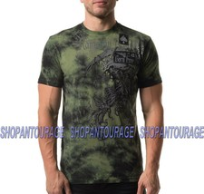 Affliction Range A19037 New Short Sleeve Green Graphic Fashion T-shirt For Men - $55.42
