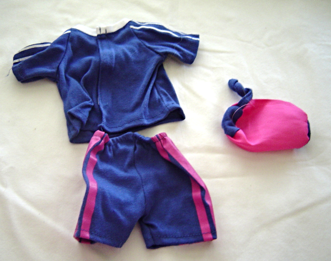 """Purple Shorts Shirt Pink Soccer Bag Fits 18"""" Doll American Girl Our Generation"""