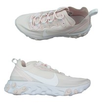 Nike React Element 55 Womens Running Shoes Size 10 Pale Pink White BQ272... - $79.15