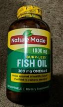 Nature Made Burpless Fish Oil 1000 mg Softgels 300 mg Omega-3 ~ 320 Ct ~... - $18.71