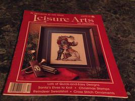 Leisure Arts the Magazine December 1989 Needlework Stiffener - $2.99