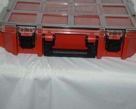Milwaukee 48228030 Job Site Organizer Weather Seal 10 Bins Red Clear Lid Box image 2