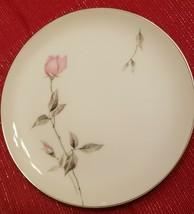 "Sango Dawn Rose  Salad Plate  Pink White  7 5/8"" mid century modern vintage - $4.90"