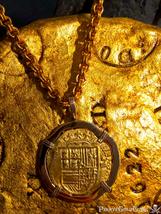 SPAIN 4 ESCUDOS ATOCHA ERA 1556-98 PENDANT  - $5,450.00