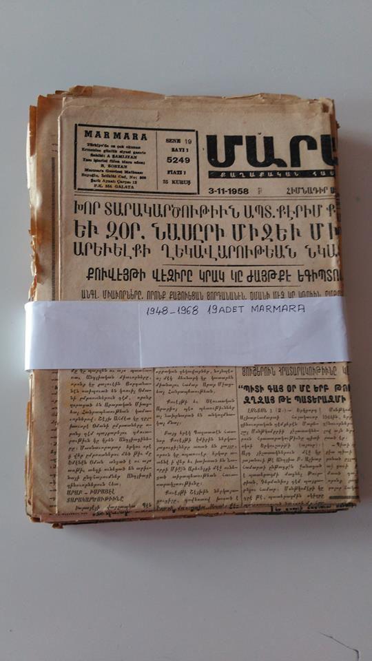 Ottoman Turkey ARMENIA Constantinople, picture postcard 1948-1968 lot newspaper
