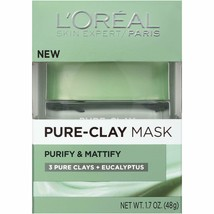 L'OrÃal Paris Skincare Pure-Clay Face Mask with Eucalyptus for Oily and ... - $9.04
