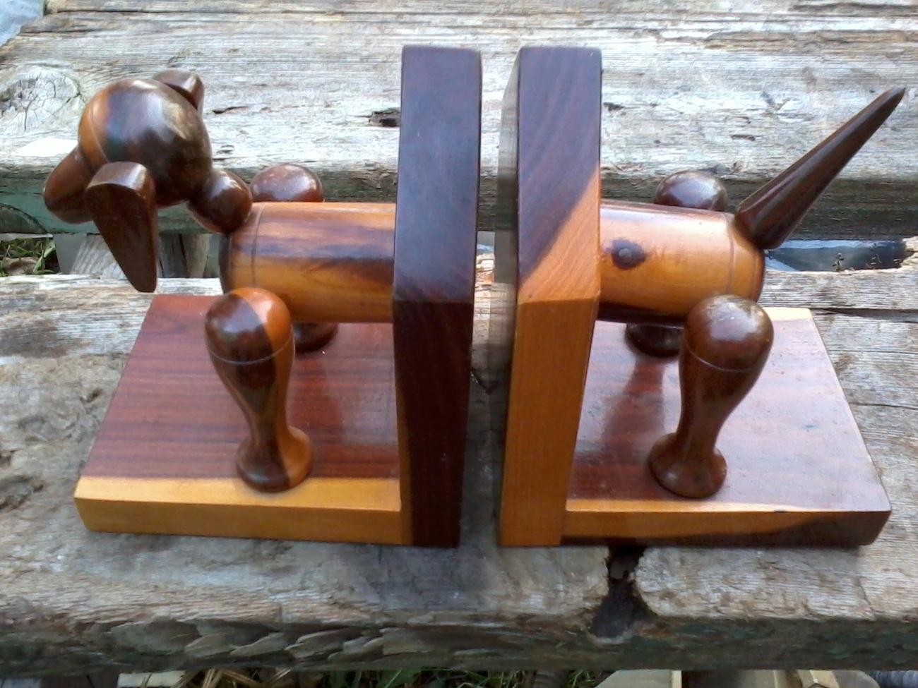 Mulgawood Mulga Wood Dog Bookends Book Ends