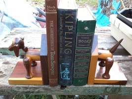 Mulgawood Mulga Wood Dog Bookends Book Ends - $6.99