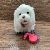 FurReal Friends GoGo My Walkin Pup White Dog GoGo Remote Purple Pink Leash - $24.99