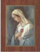 "Catholic Print Picture Blessed Virgin Mary MYSTICAL ROSE Rosa Mystica 7x9"" - $11.29"