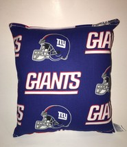 Giants Pillow NFL NY Giants Pillow New York Giants Pillow Handmade in US... - $9.97