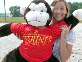 U.S. Marines Giant Stuffed Gorilla Monkey 40 inch wear TShirt A MARINE L... - $97.11