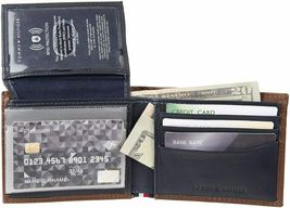 Tommy Hilfiger Men's Leather Bifold RFID Blocking Wallet With Zipper Coin Pocket image 4