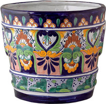 "Small Mexican Flower Pot ""Villahermosa"" - $75.00"