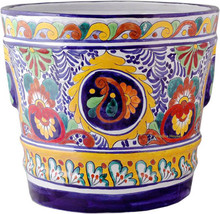 "Small Mexican Flower Pot ""Mexicali"" - $75.00"