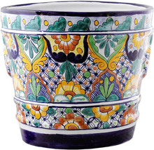 "Small Mexican Flower Pot ""Cuernavaca"" - $75.00"